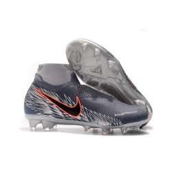Crampons Nouvelles Nike Phantom Vision Elite DF FG Victory Pack Gris