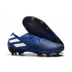 Crampons adidas Nemeziz 19.1 FG Homme - Bleu Blanc