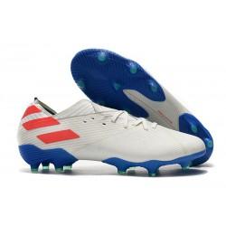 Crampons adidas Nemeziz 19.1 FG Homme - Blanc Rouge Bleu