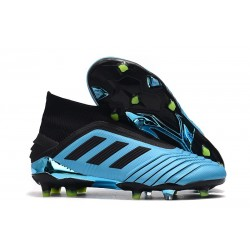 Crampons de Foot adidas Predator 19+ FG Bleu Noir