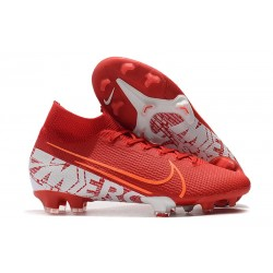 Chaussures Nike Mercurial Superfly VII Elite FG Rouge Blanc