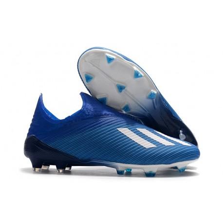 adidas X 19+ FG Nouvelles Chaussure - Bleu Blanc