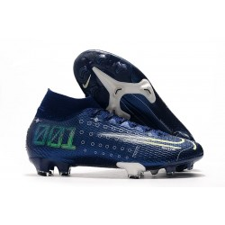 Chaussures Nike Dream Speed Mercurial Superfly VII Elite FG Bleu Blanc