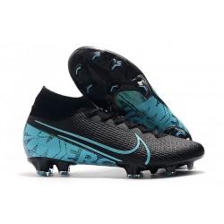 Chaussures Nike Mercurial Superfly VII Elite FG Noir Bleu