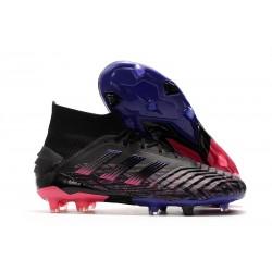 adidas Predator 19+ FG Chaussure Neuf Noir Bleu Rose