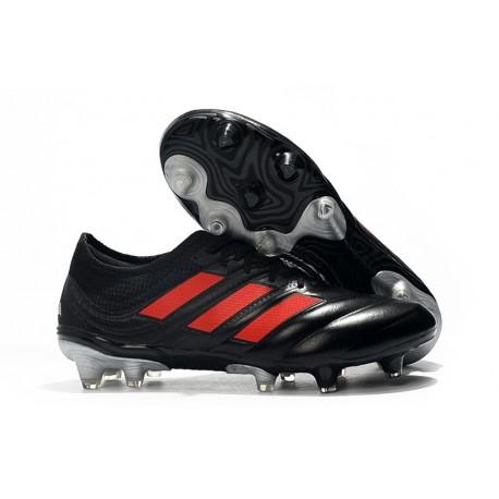 Nouveau Crampons Foot - Adidas Copa 19.1 FG Noir Rouge