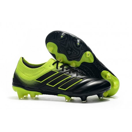 Nouveau Crampons Foot - Adidas Copa 19.1 FG Noir Vert