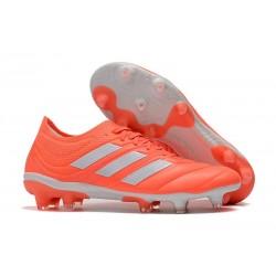 Nouveau Crampons Foot - Adidas Copa 19.1 FG Rouge Blanc
