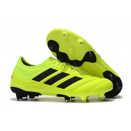 Nouveau Crampons Foot - Adidas Copa 19.1 FG Volt Noir