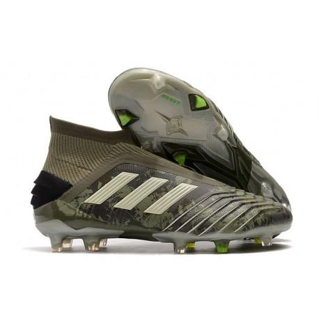adidas Predator 19+ FG Chaussure Neuf Héritage Vert Sable