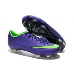 Nouvelle Crampons de Football Nike Mercurial Vapor X FG Orange Violet