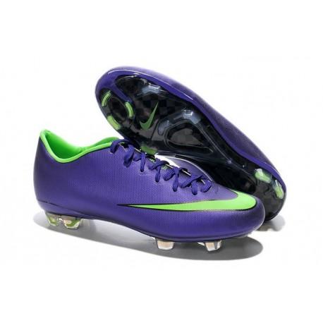 Nouvelle Crampons de Football Nike Mercurial Vapor X FG Orange Violet