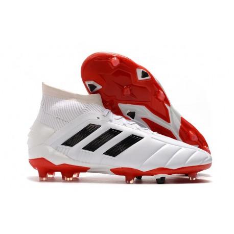 Crampons de Football adidas Predator Mania 19.1 FG ADV Blanc Rouge Noir