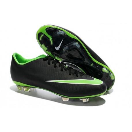 2014 Chaussure de Football Nike Mercurial Vapor X FG Noir Vert