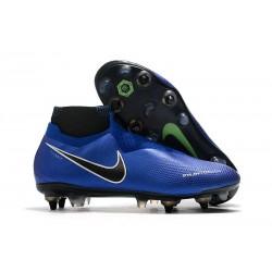 Nike Phantom Vsn Elite Df Sg-Pro Ac Bleu Chrome Blanc