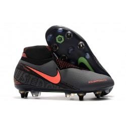 Nike Phantom Vsn Elite Df Sg-Pro Ac Gris foncé Mangue claire Noir