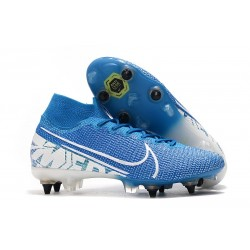 Nike Mercurial Superfly VII Elite DF SG-Pro Anti Clog New Lights Bleu