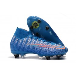 Nike Mercurial Superfly VII Elite DF SG-Pro Anti Clog Bleu Rouge