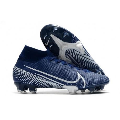 Nike Mercurial Superfly 7 Elite SE FG Crampon -Bleu Blanc
