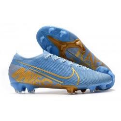 Nike Mercurial Vapor 13 Elite FG ACC Chaussure Bleu Or