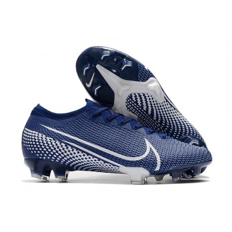 Crampons Nouveau Nike Mercurial Vapor XIII Elite FG Bleu Blanc