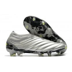adidas Chaussure de Foot Copa 20+ FG -Argent Jaune Solaire