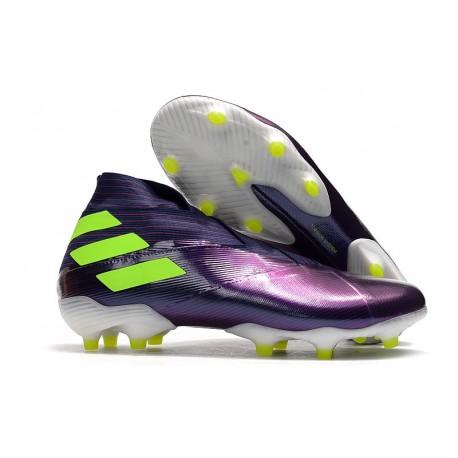 adidas Nemeziz 19+ FG Crampons Football Viola Jaune