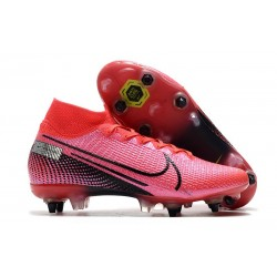 Nike Mercurial Superfly VII Elite DF SG-Pro Anti Clog Cramoisi Noir