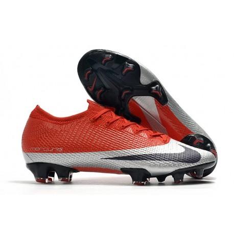 Nouveau Nike Future DNA Mercurial Vapor XIII Elite FG Rouge Argent