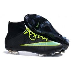 Coupe du monde 2014 Chaussures Nike Mercurial Superfly FG Noir Vert