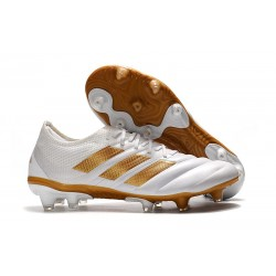 Nouveau Crampons Foot - Adidas Copa 19.1 FG Blanc Or