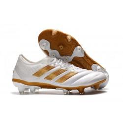 Nouveau Crampons Foot - Adidas Copa 19.1 FG Blanc Or