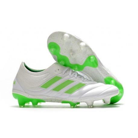 Nouveau Crampons Foot - Adidas Copa 19.1 FG Blanc Vert