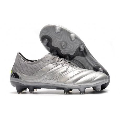 Nouveau Crampons Foot - Adidas Copa 19.1 FG Argent Jaune Solaire