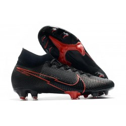 Nike Mercurial Superfly VII Elite DF FG - Noir Rouge