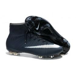 Coupe du monde 2014 Chaussures Nike Mercurial Superfly FG Bleu Foncé Blanc