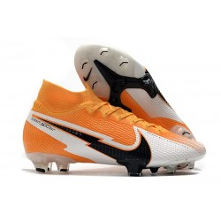 Nike Mercurial Superfly VII Elite DF FG -Orange Laser Noir Blanc