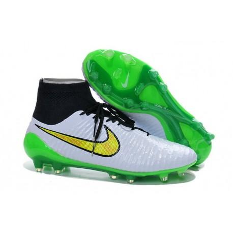 meet 9ff69 30962 Nouvelle Crampons Nike Magista Obra FG Hommes Blanc Vert Noi
