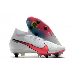 Nike Mercurial Superfly 7 Elite SG-Pro AC Blanc Rouge Bleu