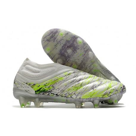 adidas Chaussure de Foot Copa 20+ FG - Blanc Noir Vert