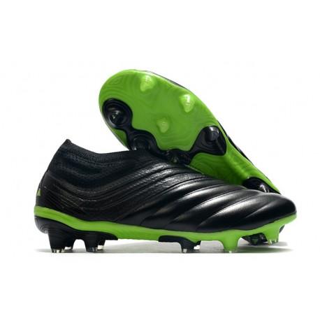 adidas Chaussure de Foot Copa 20+ FG - Noir Vert signal