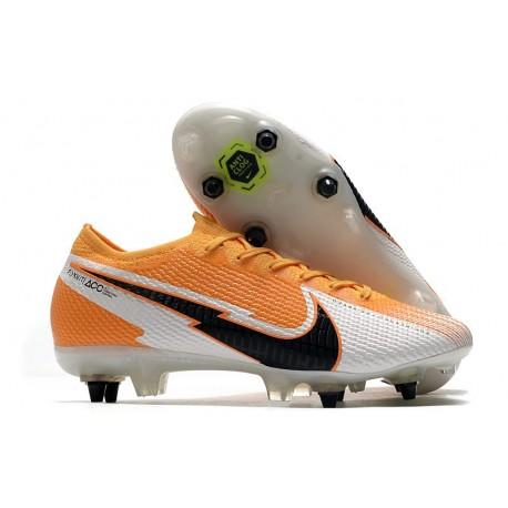 Nike Mercurial Vapor 13 Elite SG AC Orange Laser Noir Blanc
