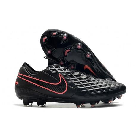 Chaussure de foot Nike Tiempo Legend VIII Elite FG Noir Rose