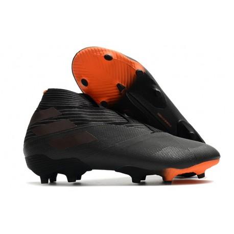 adidas Nemeziz 19+ FG Crampons Football Noir Signal Orange
