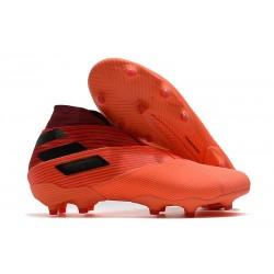 adidas Nemeziz 19+ FG Crampons Football Corail Noir Rouge Goire