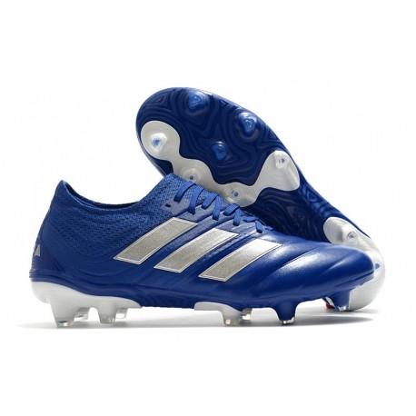 Crampons Nouvel adidas Copa 20.1 FG Bleu Royal Argent