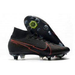 Nike Mercurial Superfly 7 Elite SG-Pro AC Noir Rouge