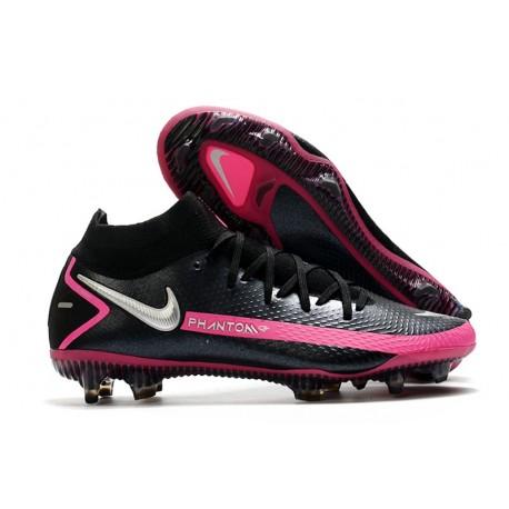 Chaussures Neuf Nike Phantom GT Elite Dynamic Fit FG Noir Argent Rose