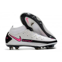 Chaussures Neuf Nike Phantom GT Elite Dynamic Fit FG Blanc Rose Noir
