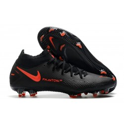 Chaussures Nike Phantom GT Elite Dynamic Fit FG Noir Rouge Chili Gris